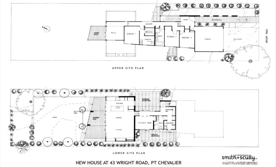 Contemporary-New-House-in-Point-Chevalier-Site-Plan
