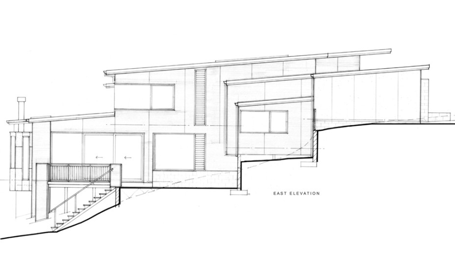 Modern New House in Point Chevalier- East Elevation