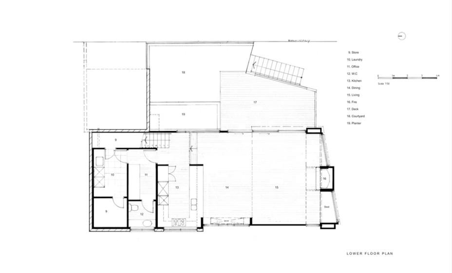 Modern New House in Point Chevalier- Lower Floor Plan