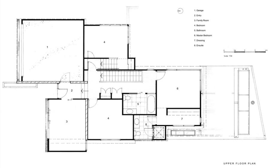 Modern New House in Point Chevalier- Upper Floor Plan